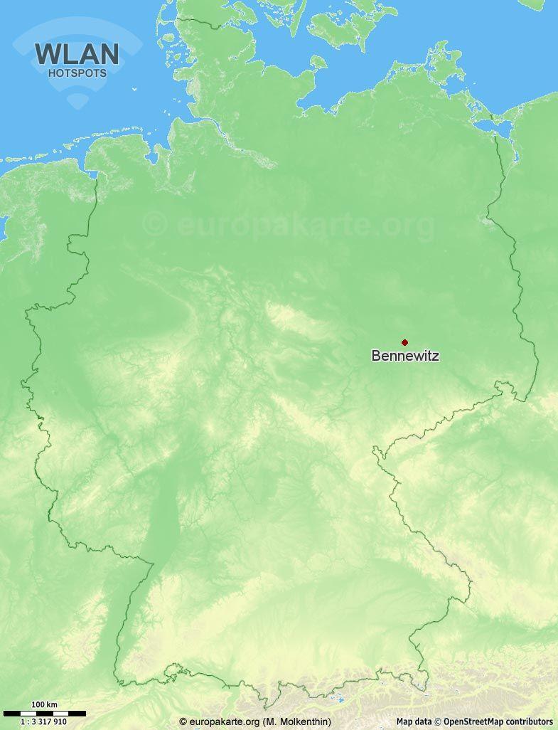 WLAN-Hotspots in Bennewitz (Sachsen)