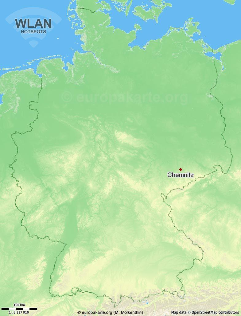 WLAN-Hotspots in Chemnitz (Sachsen)