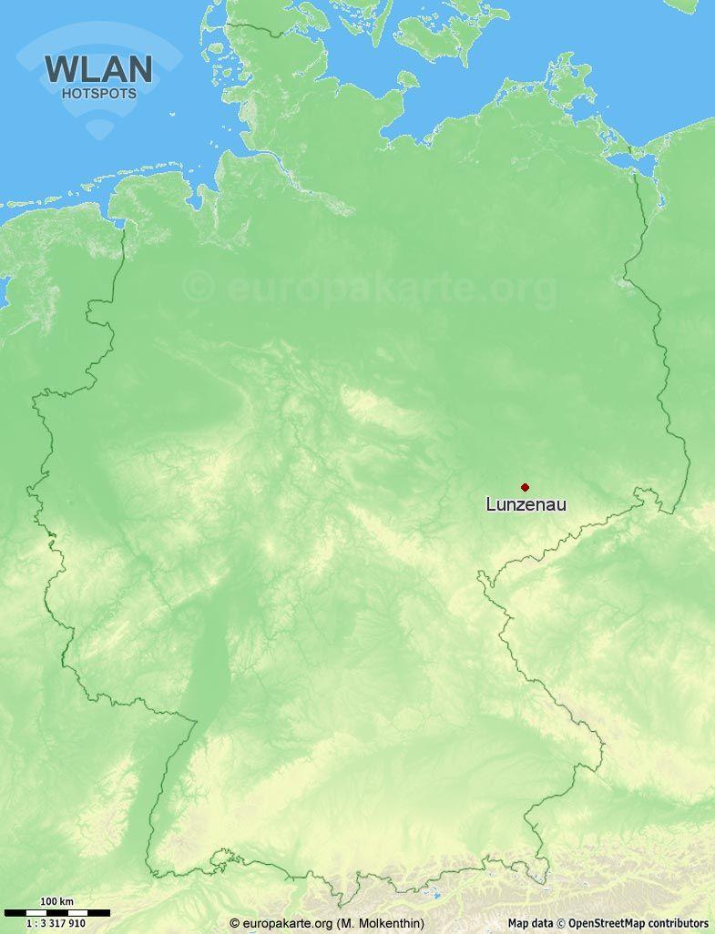 WLAN-Hotspots in Lunzenau (Sachsen)