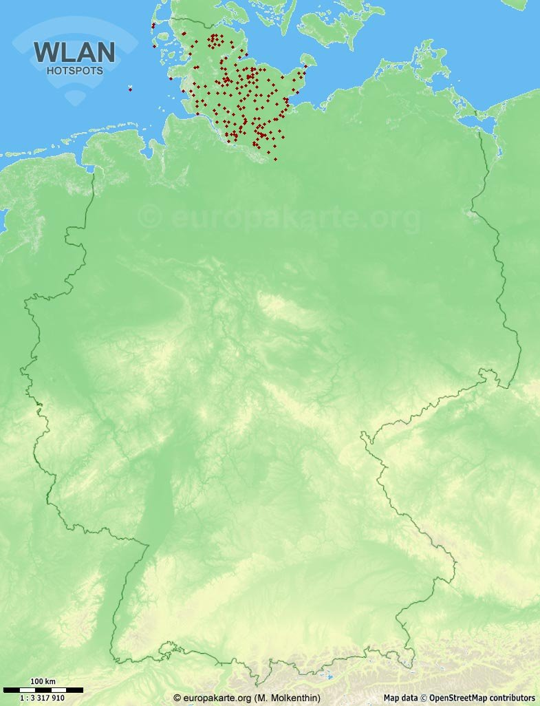 WLAN-Hotspots in Deutschland (Karte)